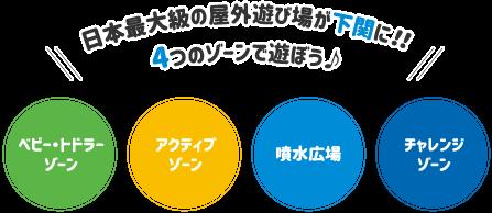 日本最大級の屋外遊び場が下関に!4つのゾーンで遊ぼう